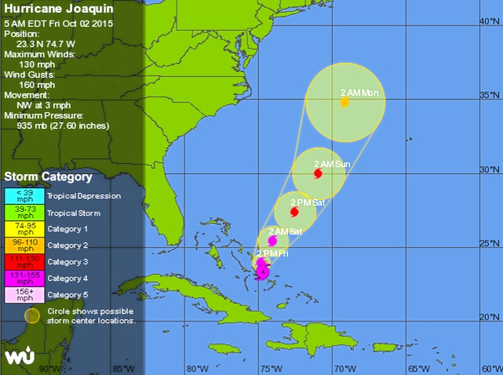 Hurricane Joaquin Oct 2nd 3