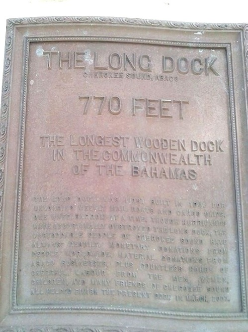 Cherokee Long Dock: the plaque (Amanda Diedrick)