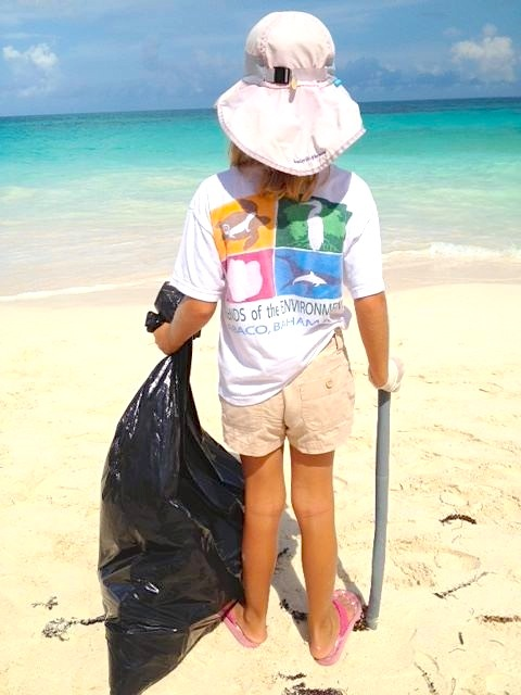 Young conservationist on Abaco, Bahamas