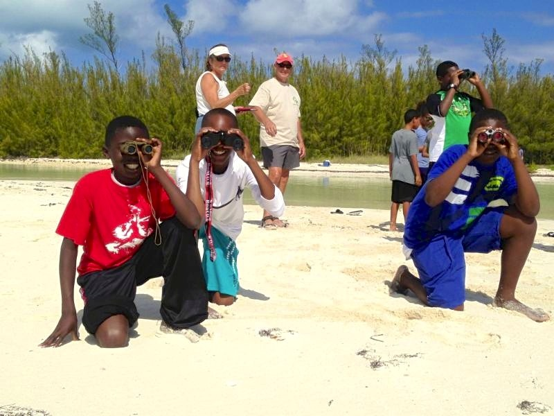 Young conservationists on Abaco