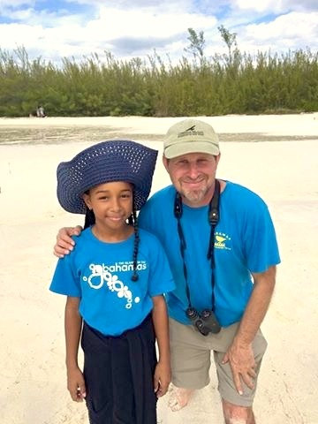 Young conservationist on Abaco