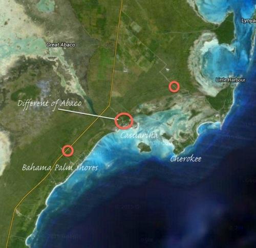 Casuarina, Abaco area map