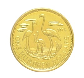 Flamingo coin, gold JPG