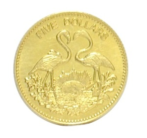 Flamingos gold coin JPG