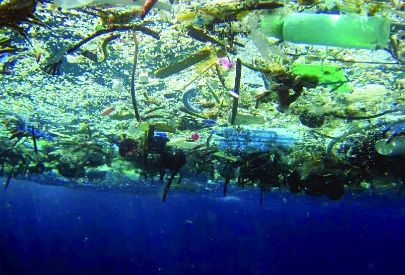 Marine Garbage Patch from below (NOAA)