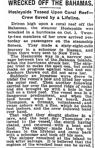 SS Hesleyside NYT report (Coconut Telegraph) jpg