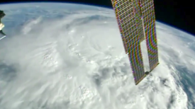 Hurricane Matthew Space Station view Bahamas