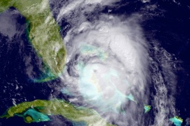 Hurricane Matthew Satellite view Bahamas
