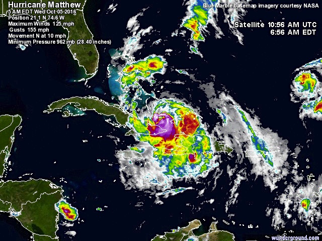 Hurricane Matthew_satellite view (NASA)
