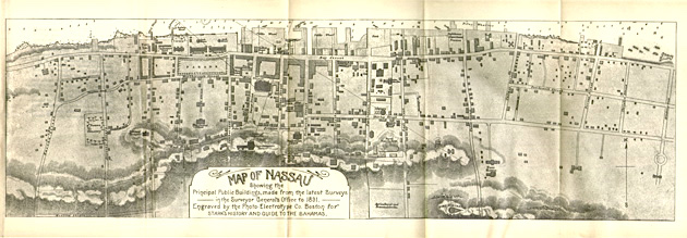 Stark's History of & Guide to the Bahamas - Nassau map