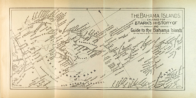 Stark's History of & Guide to the Bahamas - Bahama Islands Map