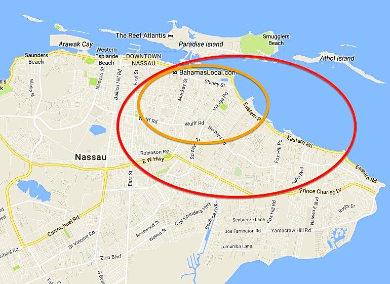 Nassau Parrot Locator Hotspot Map (Keith Salvesen)