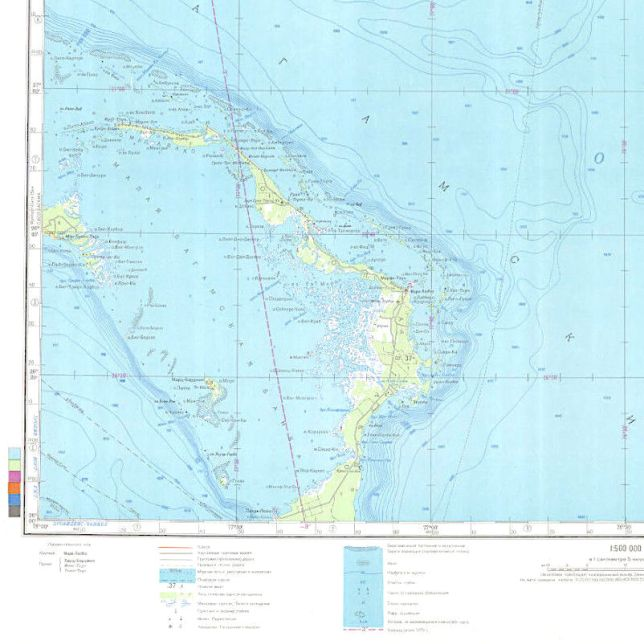 Soviet Russian Military Map of Abaco 1979