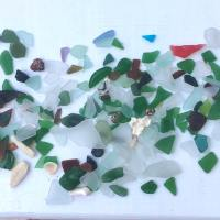 SEA GLASS TREASURES & TWO ISLAND CHICKS...