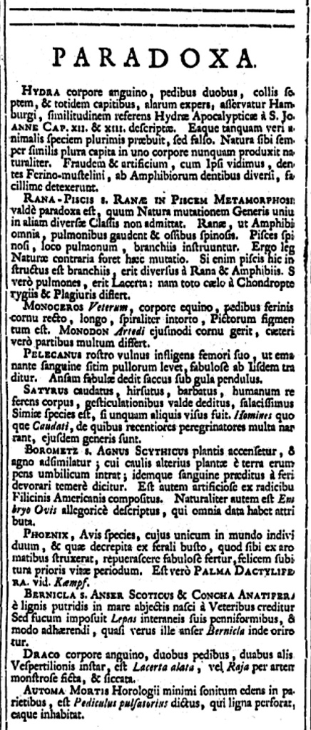 Systema Naturae 1735 - paradoxa (© KS / Rolling Harbour)