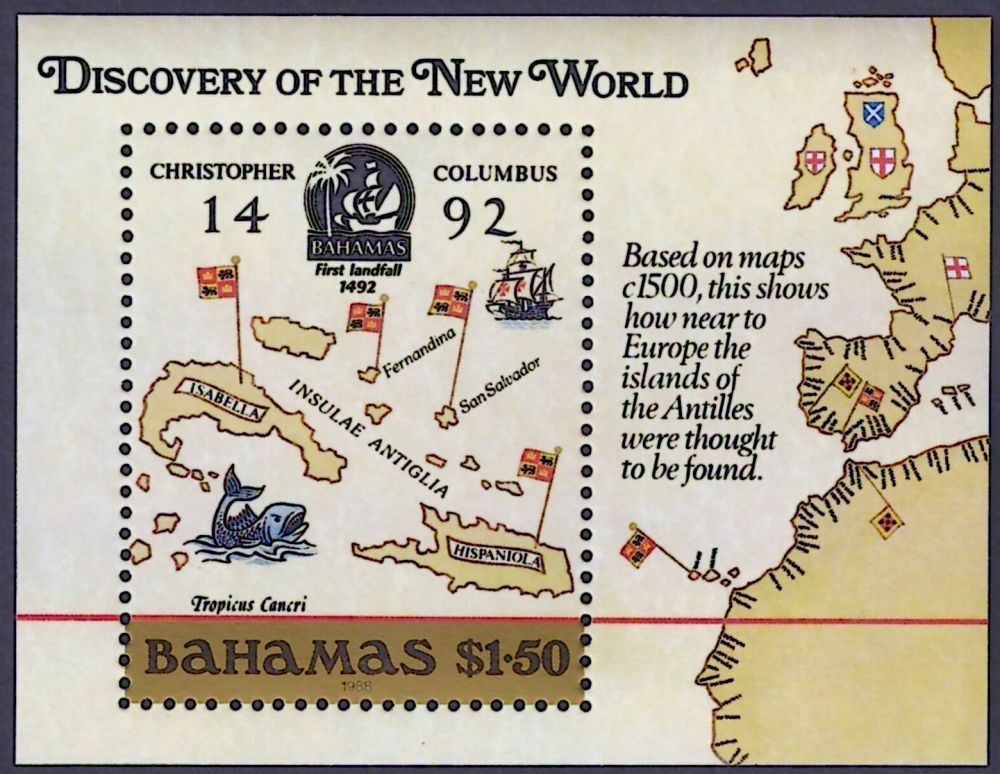 Bahamas Map Stamp