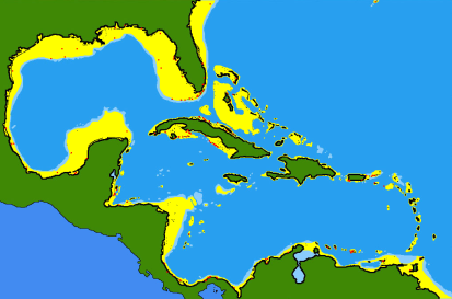 Cubera Snapper Range Map (wiki)