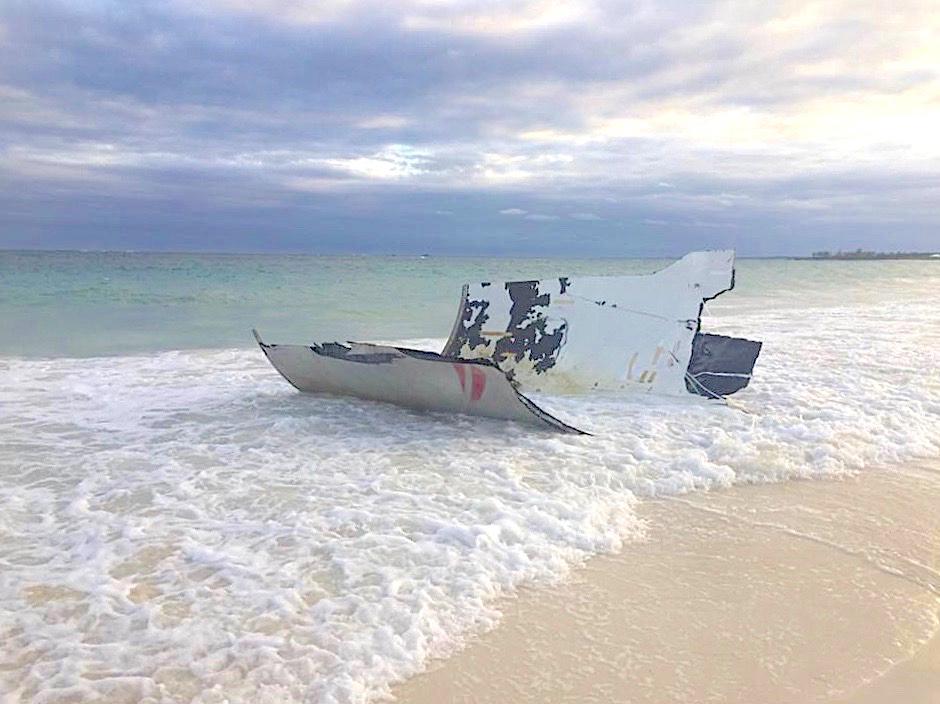 Falcon 9 SpaceX Rocket Debris, Bahamas Palm Shores, Abaco Bahamas