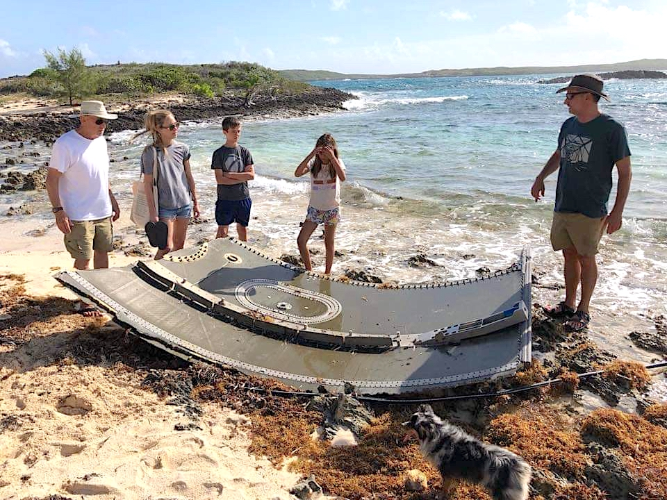 Falcon 9 SpaceX Rocket Debris Sandy Point Abaco Bahamas (Mary McHenry)
