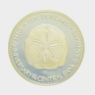 Ten dollar Sand Dollar coin, Bahamas
