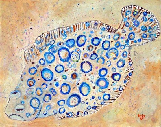 Peacock Flounder (Kim Rody Art))